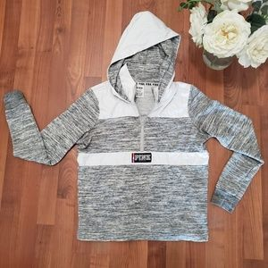 Victoria Secret Sz Small Half Zip Pullover Gray
